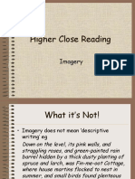 2. Higher Close Reading Imagery