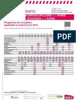 Info Trafic - Axe q - Tours-Orleans-paris Montlucon Du 23-04-2018_tcm56-46804_tcm56-186793