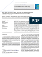 Ionic Liquid Extraction of Heavy Metal Ions by 2-Aminothiophenol in. 1-Butyl-3-Methylimidazolium Hexafluorophosphate and Their as Sociation Constants_Lertlapwasin (1)
