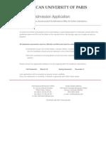 AUP Application Form