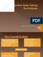Effective Note Taking Techniques