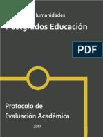 Protocolo Evaluacion Postgrado (2018)