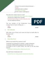 prueba libro frankestein