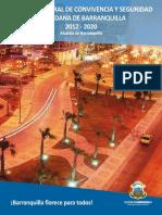 Plan Integral Seguridad Convivencia Distrito Barranquilla