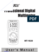 Multimetro Digital Pro'Skit Mt 1820