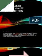 Principles of Questionnaire Construction (2)