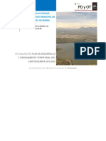 Actualización Pdot Del Canton Ibarra 2015-2023