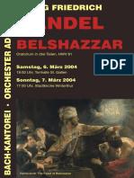 2004_Belshazzar, Programmheft