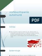 Trombocitopenia Autoimuna-Sirbu Ion