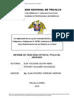 Consulta Previa y Libre Determinacion de Los Pueblos Peru - Tesis