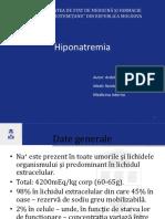 Hiponatremie