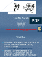 Test on Variables in Statistics