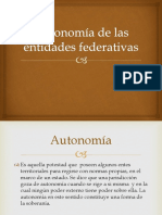 Autonomía de Las Entidades Federativas