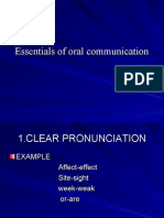 Essentials of Oral Communication