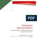 PROGRAMAS ARQUITECTÓNICOS