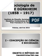 A Sociologia de Émile Durkheim