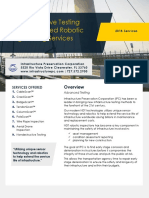 Robotic bridge inspections and infrastructure inspection services
