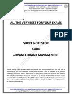 CAIIB-ABM-Short Notes by Murugan
