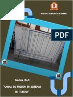 Práctica 5 Caida de Presión Pipping System 3
