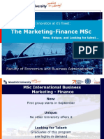 MSc IB Marketing-Finance