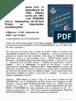 Comentarios Sobre o Livro_A Maconaria Na Independencia_Teixeira Pinto