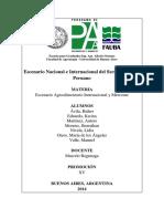 Escenario Nacional e Internacional del Sector Del Pisco Peruano