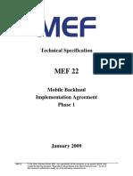 MEF - Mobile Backhaul Implementation Agreement