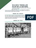Historia de Los Mundiales