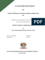 Internship Project on Airtel