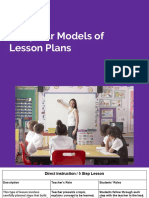 models of lessons 1