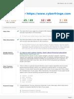Www.cyberfringe.com SEO REPORT