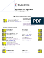 Big Cube Oll Algorithms