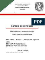 Informe de Cambio de Conducta Anareli