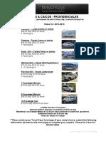 General - Turks Caicos - Car Rental Rates (Preferred)