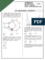Lista - Obm - 2018 - Geometria Plana