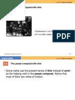 The Passé Composé With Être