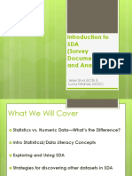 20161017 Dlc Intro Data Analysis With Sda Survey Documentation Analysis Slides