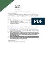 MSt in Advanced Subject Teaching (MSt AST Bursary Application Form) (1)