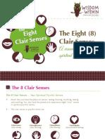 The 8 Clair Senses a Visual Guide to the Spiritual Psychic Senses