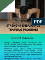 Strenght Endurance Training Program
