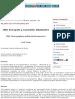 1968_ Demografía y Movimientos Estudiantiles