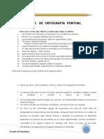 Ejercicios Ortografía Puntual Enseñanza Media
