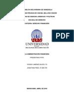 Trabajo DE Derecho Financiero 3er Corte.