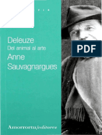 Sauvagnargues, Anne - Deleuze. Del Animal Al Arte