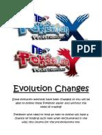 Evolution Changes