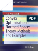 Convex Optimization in Normed Spaces - Theory Methods and Examples