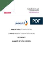 Nu Mero de Cuenta ICZ Venezuela Deposito Mercantil