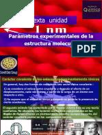 Unidad 6.  Parámetros Experimentales de la Estructura Molecular