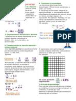 Fraccione, Porcentajes y Decimales