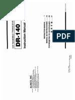 Alinco DR-140 Instruction Manual